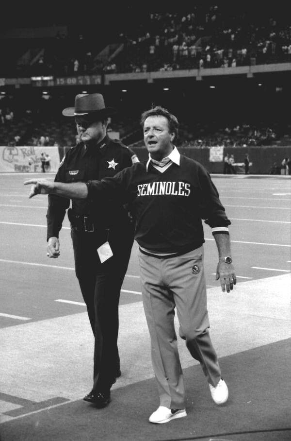 1985 - Florida State University Coach Bobby Bowden