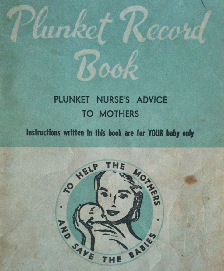 Old style Plunket Record Book for Baby