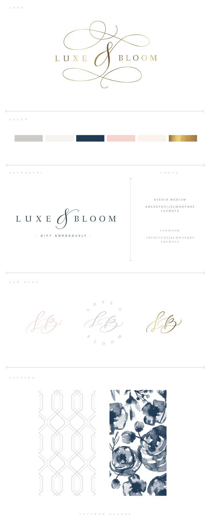 A Modern Classic Logo Design :: Luxe & Bloom - Saffron Avenue : Saffron Avenue