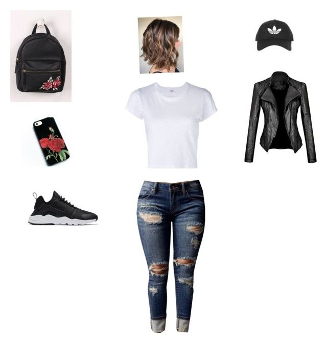 """Casual👟"" by elmiller95 on Polyvore featuring WithChic, NIKE, RE/DONE and Topshop"