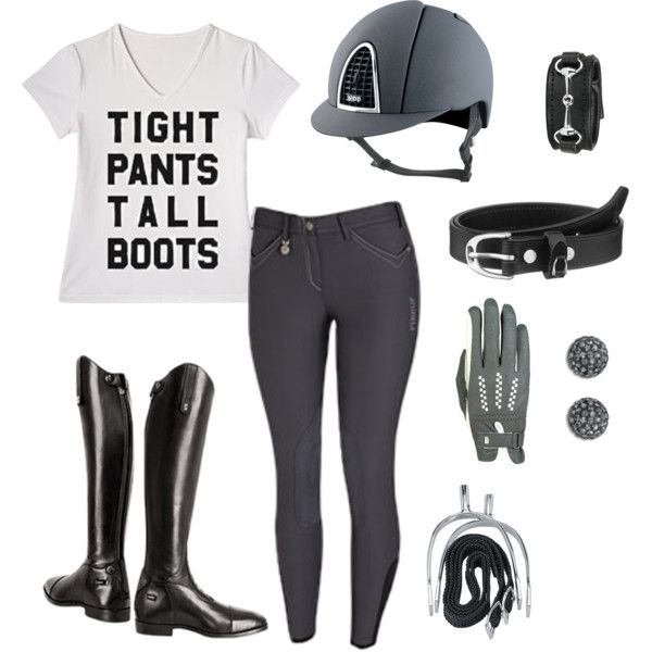 Gray Day by equestrianartist on Polyvore featuring Swarovski and Roeckl