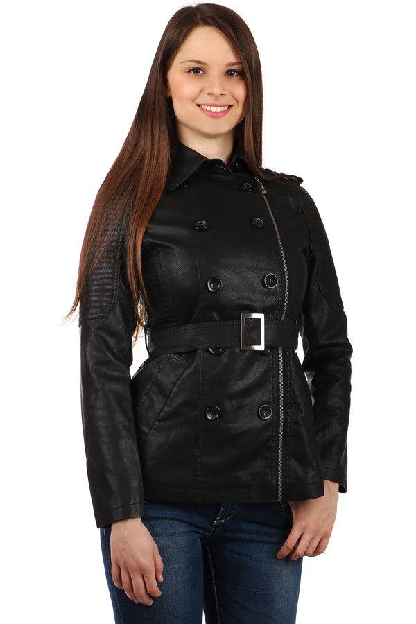 Dámský kabátek se zipem na straně - i pro plnoštíhlé - koupit online na  Glara.cz  dámskékabáty  damskekabaty  glara  fashion  kabáty  kabaty 945f55c47f