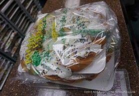 The grail, on the first day of Carnival 2016 at Manny Randazzo king cake bakery in Metairie