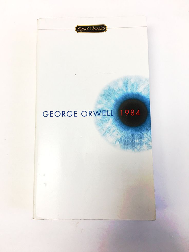 George Orwell 1984. Classic literature. Paperback Fiction Book. University College. Nineteen Eighty-Four