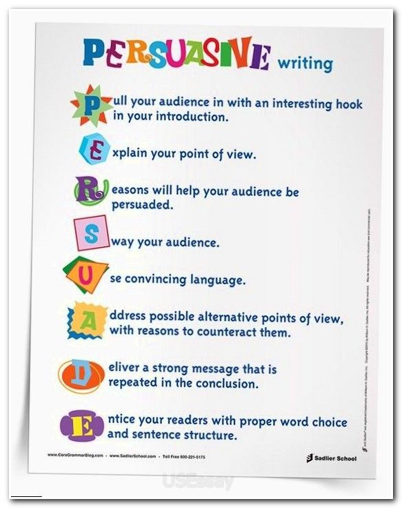 elements of a good persuasive essay Writing of persuasive essays is a good practice both for school and college students in this way they learn and get necessary skills how to express their own opinions and defend their point of view helpful tips to succeed in persuasive essay writing.
