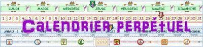 IPOTÂME ....TÂME: Calendrier perpétuel 4 versions (français + allema...
