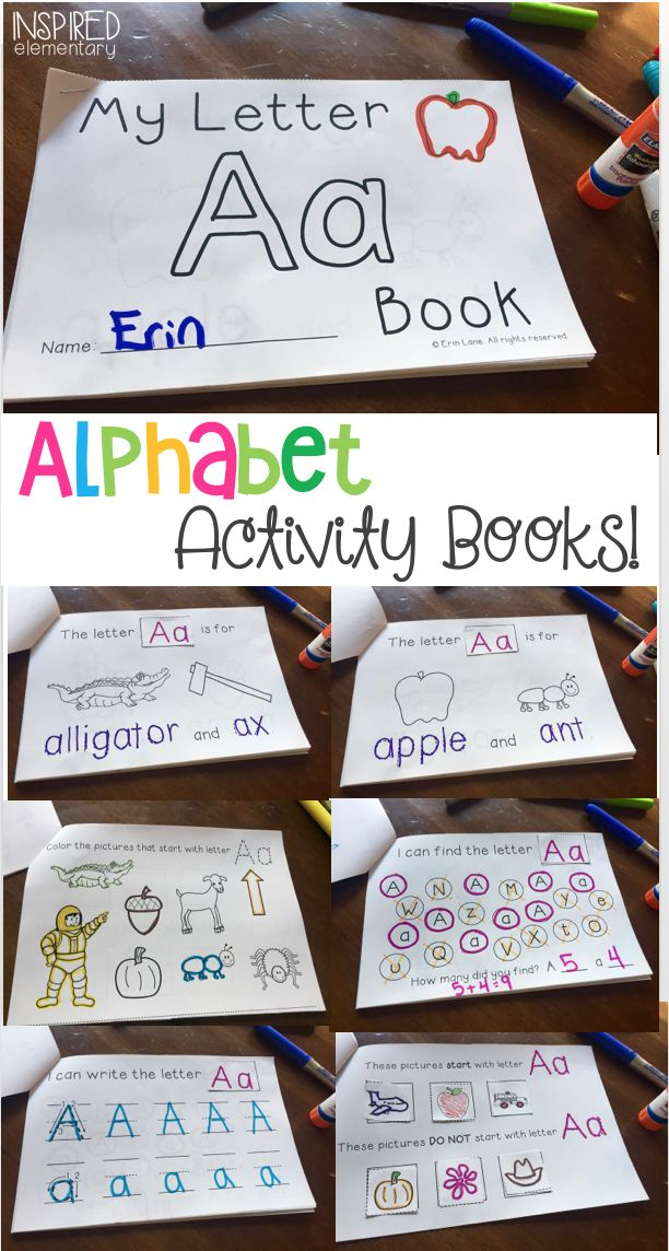Alphabet Activity Books are a FUN and INTERACTIVE way for students to learn and review letters. 26 books are included in this bundle, one for each letter, along with picture cards for each book to support students with new vocabulary.