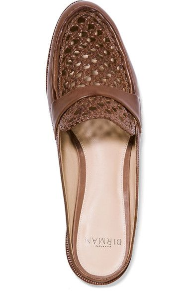 Alexandre Birman - Alexa Woven Leather Loafers - Light brown - IT