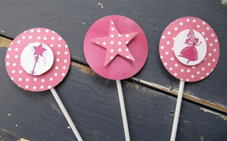 Fairy Party Cupcake Toppers