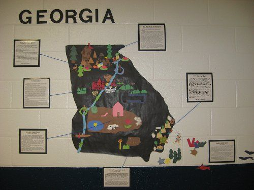 Best Georgia Regions Ideas On Pinterest Georgia Habitats - Map 0f georgia