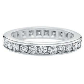 「ラウンド・チャネルセット・リング」 ハリーウィンストンの結婚指輪・マリッジリング一覧。