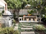 Designer Jamie Durie was inspired by his travels in Egypt to create this lush outdoor space made for entertaining.