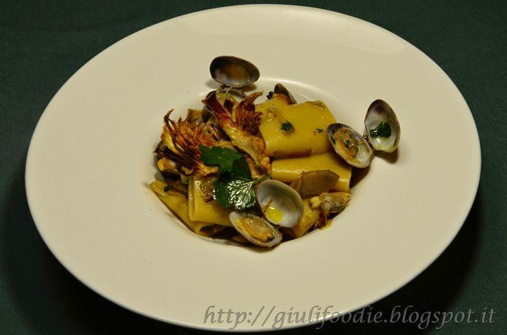 Giuli Foodie: Paccheri Carciofi e Vongole