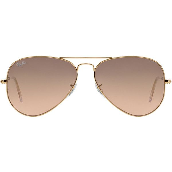 Ray-Ban Rb3025 58 Original Aviator Gold Shiny Sunglasses ($165) ❤ liked on Polyvore featuring accessories, eyewear, sunglasses, glasses, gold aviator glasses, gold aviators, ray ban sunglasses, aviator style glasses and gold sunglasses