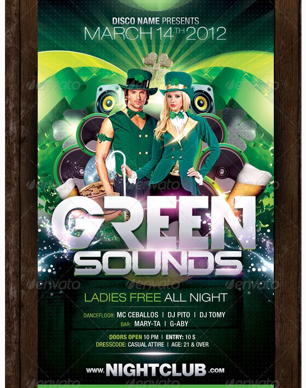 Best St Patricks Day Flyer Template Images On   Party