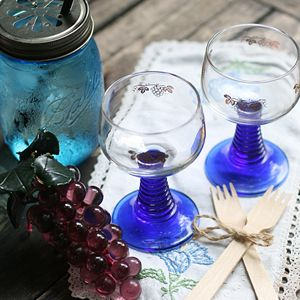 Parisian blue glass by Forroom market. At shop.forroom.com If you would like to purchase this goods, click the website of forroom market at above