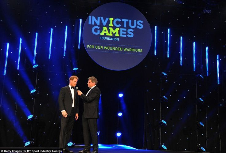The affable royal gave a speech to the star-studded audience on the importance of the Invictus Games and the athletes' attitude to life