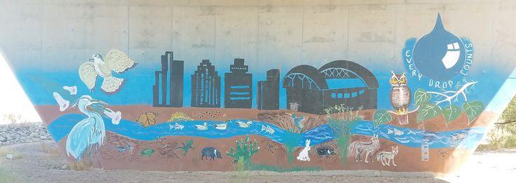 Rio Salado underpass painting