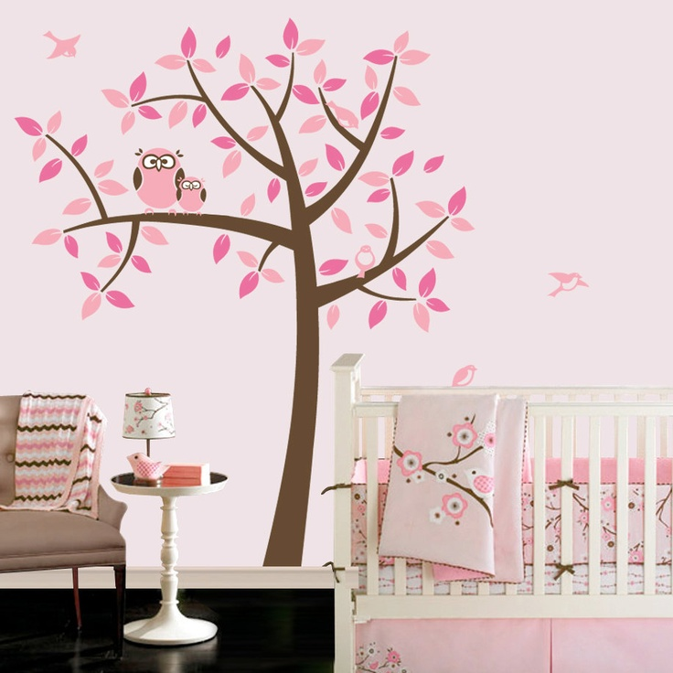 Owl Tree   Girl Baby Owl Nursery Theme   Nursery Wall Decals To Match Owl  Bedding Part 84