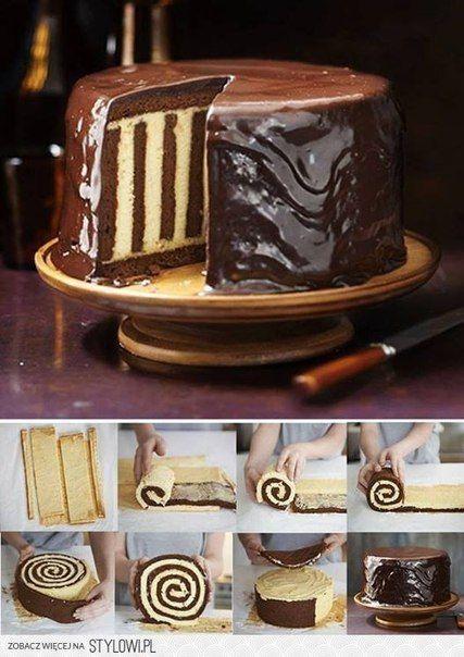 Полосатый торт