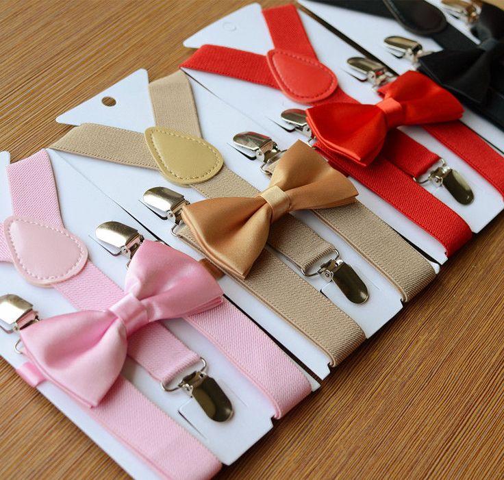 1 PC Dzieci Elastyczne Szelki & Bow Tie Pasujące Smoking Garnitur Unisex Chłopcy Dziewczęta Bowtie Dzieci Kostium Regulowany Y powrót Brace