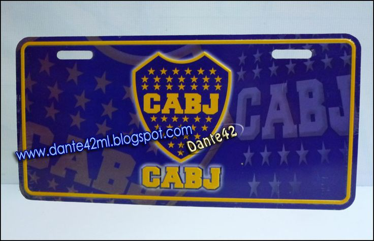 dante42ml: PLACA AUTO CABJ Boca Juniors CLUB DE FUTBOL DE ARGENTINA