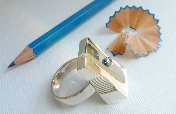 Pencil Sharpener Ring | Handmade Charlotte