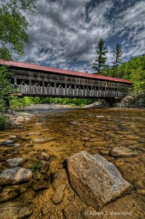Albany Covered Bridge, Swift River, Albany, New Hampshire, USA. I want to go see this place one day. Please check out my website thanks. www.photopix.co.nz