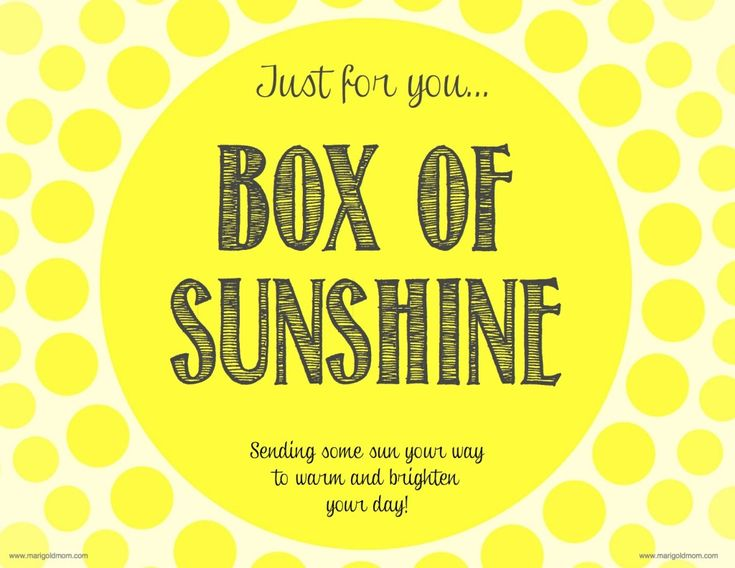 Trust image throughout box of sunshine printable