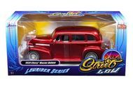 1939 Chevy Master Deluxe Red Lowrider 1/24 Scale Diecast Car Model By Jada 98814