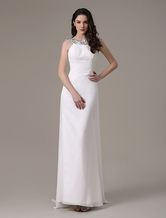 Vestido de dama de honra-line elagant com strass Halter - Milanoo.com