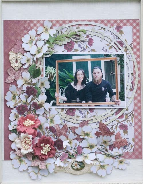 Artdeco Creations Brands: Enchanted Party meets Vintage Rose Layout by Denise Boddey