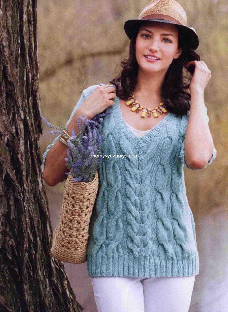 Пуловер с косами из Vogue Knitting 2014 (все размеры). Обсуждение на…