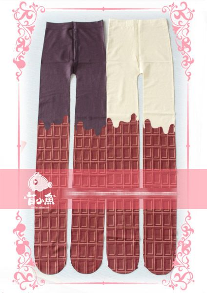 Princess sweet lolita pantyhose Chocolate cream conjoined hosiery printed pantyhose Alice style cos knee high over knee hose -in Tights from Apparel & Accessories on Aliexpress.com | Alibaba Group
