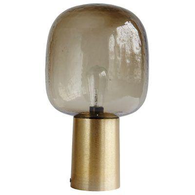Note bordslampa, mässing/grå