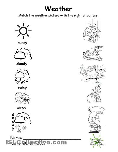 Weather Worksheets For Kindergarten | ABITLIKETHIS