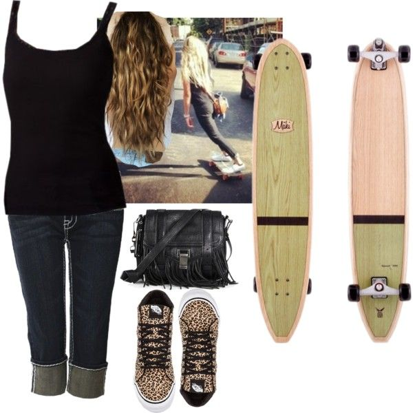 """Longboarding Outfit"" by buggiez101 on Polyvore"