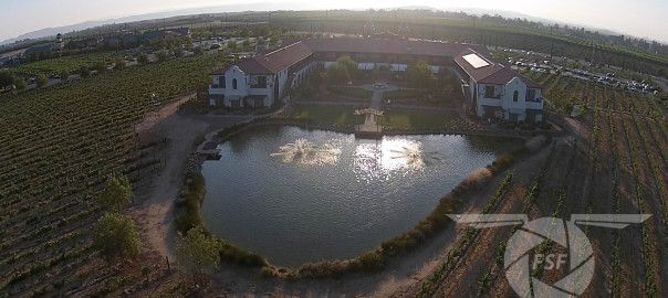 Real Estate Aerial Photography | Flight Sight Footage . Beautiful aerial photo;s of winery at sunset. http://flightsightfootage.com/blog/winery-real-estate-aerial-photography/