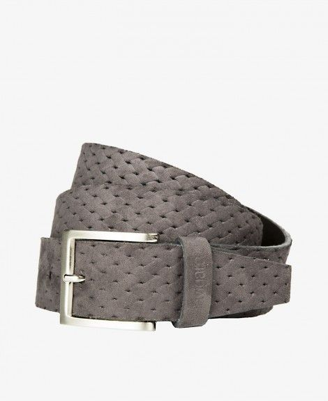 Leather and synthetic material belt, suede effect, Made in Italy, with square metal buckle and Navigare logo | Navigare