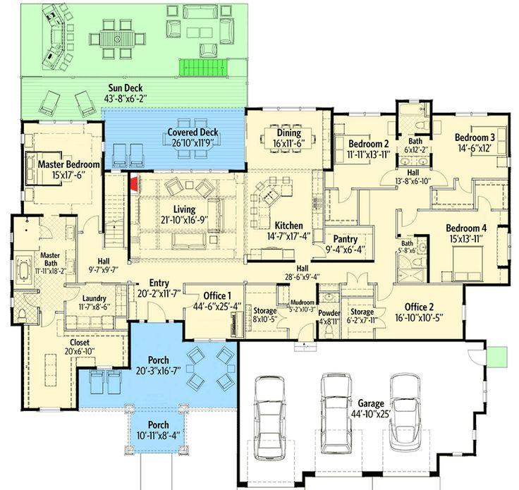 Plan 64426SC: Remarkable Rustic Mountain House Plan Part 62