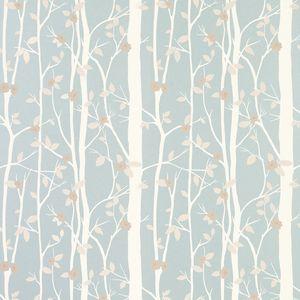 Cottonwood Duck Egg Leaf Wallpaper