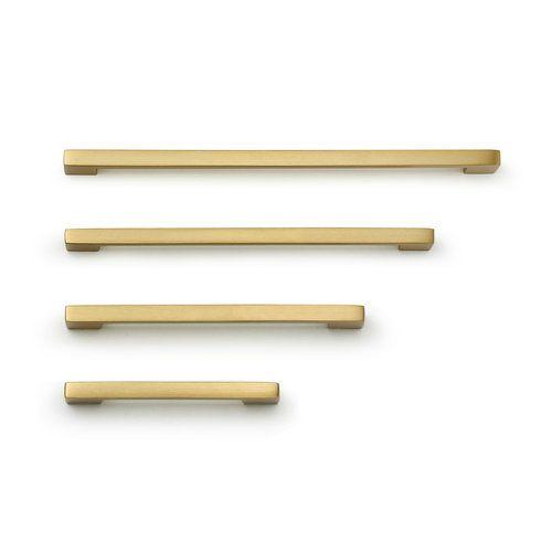 Cedar & Moss. Louis hardware pull in brass finish.