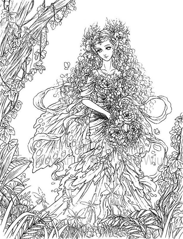 detailed printable fantasy coloring pages - photo#9