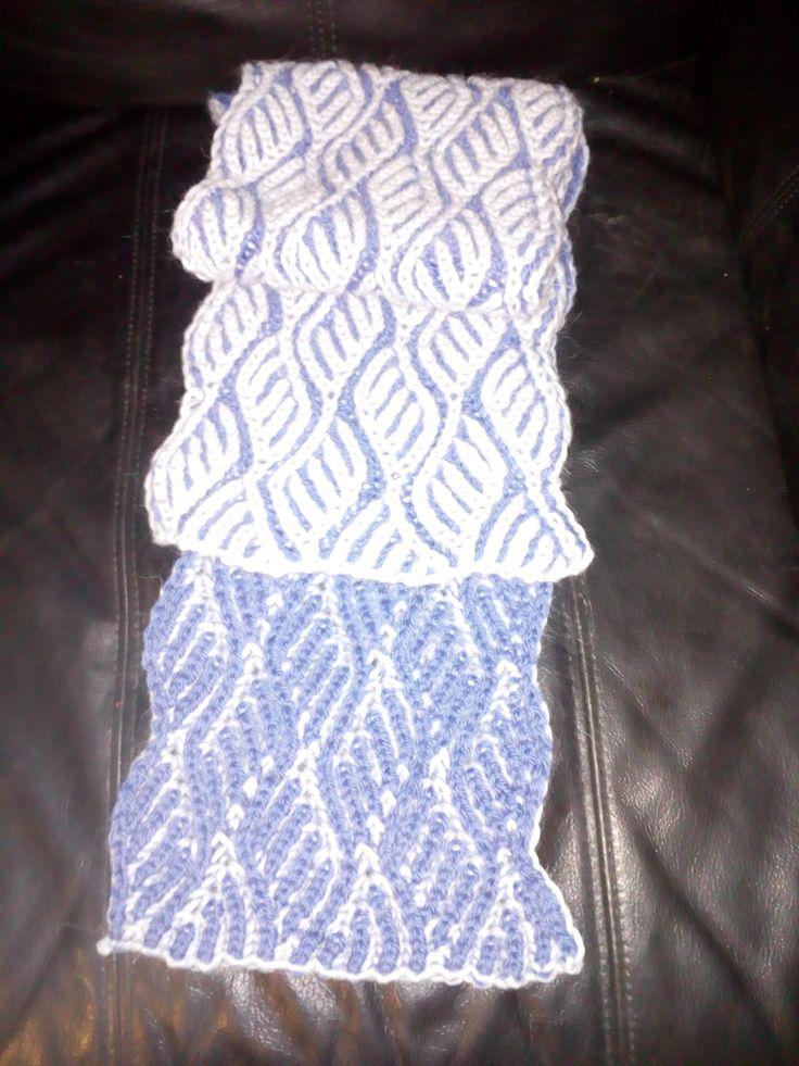 Brioche scarf, first atempt at this technique.
