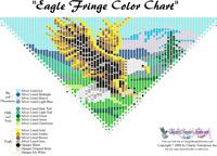 Eagle Fringe Necklace for Downloadable Pattern or Bead Graph for Beading