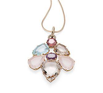 Pingente de ouro amarelo 18K com diamantes cognac, rubi, turmalina rosa, citrino, berilo e quartzo Link:http://www.hstern.com.br/joias/p-produto/BE2BR173632/berloque/dvf/pingente-de-ouro-amarelo-18k-com-diamantes-cognac,-rubi,-turmalina-rosa,-citrino,-berilo-e-quartzo