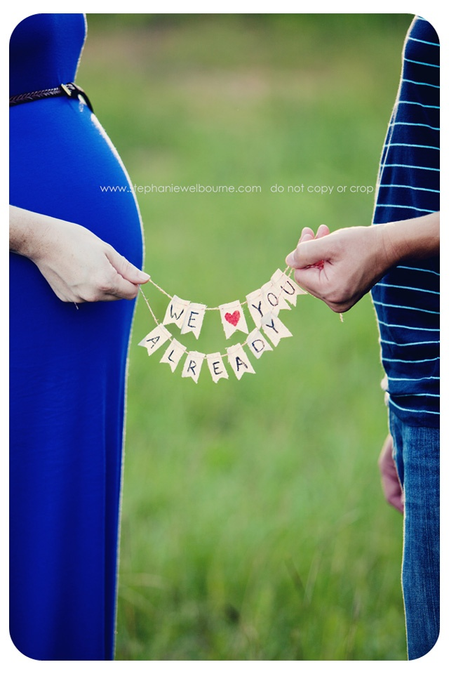 Adorable banner for maternity shoot.