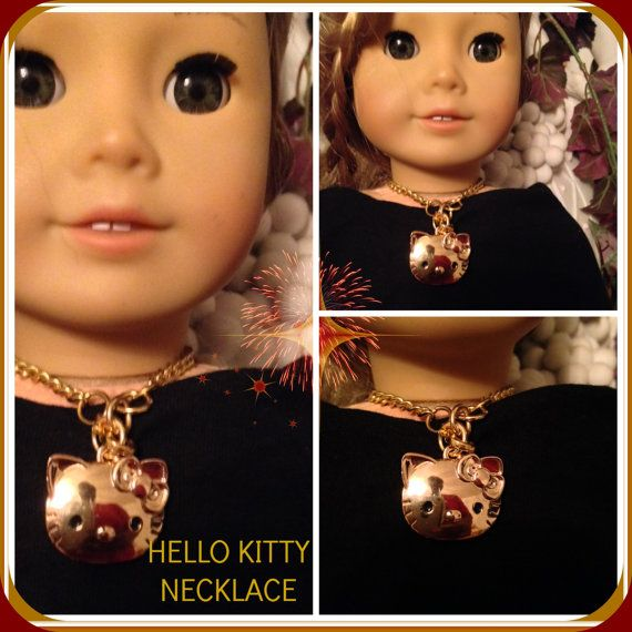 American Girl Doll 18 inch Hello Kitty Pendant & Chain Necklace