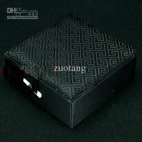 Plain Black Silk Fabric Jewelry Boxes Cotton Filled Square Gift Boxes High End Bracelet Boxes Wholesale Size 10*10*4.5 Cm Free From Zuotang, $8.91 | Dhgate.Com