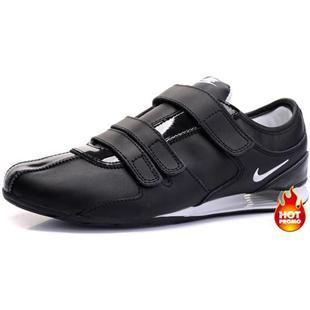 www.asneakers4u.com Mens Nike Shox R3 Velcro Black White II